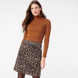J.Crew Buckle Mini Skirt in Leopard Corduroy NWOT